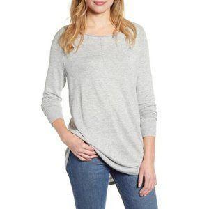 Caslon Wool Blend Shirttail Tunic Sweater M
